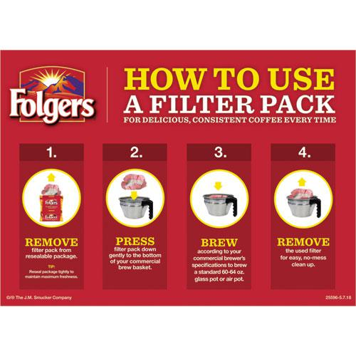 Coffee Filter Packs, Classic Roast, .9oz, 160/Carton. Picture 2