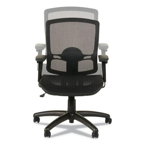 Alera Etros Series Suspension Mesh Mid-Back Synchro Tilt Chair, Supports up to 275 lbs, Black Seat/Black Back, Black Base. Picture 11