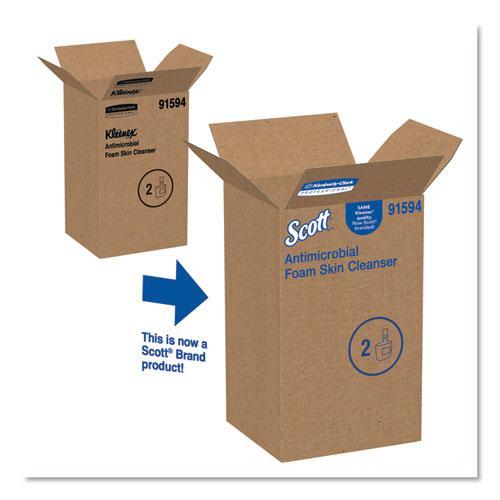 Control Antimicrobial Foam Skin Cleanser, Fresh Scent, 1,200 mL, 2/Carton. Picture 4