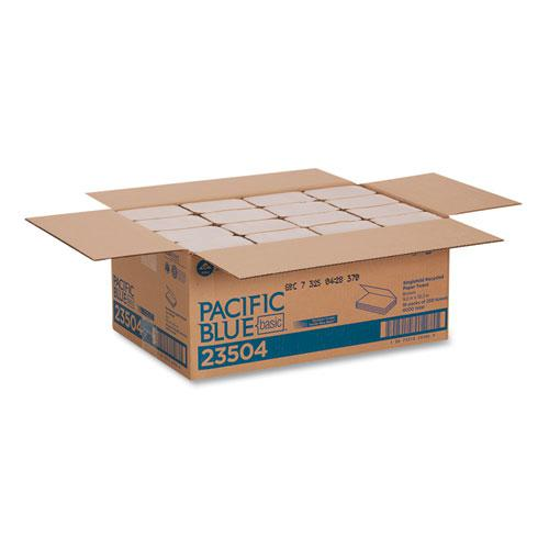 Pacific Blue Basic S-Fold Paper Towels, 10 1/4x9 1/4, Brown, 250/Pack, 16 PK/CT. Picture 3