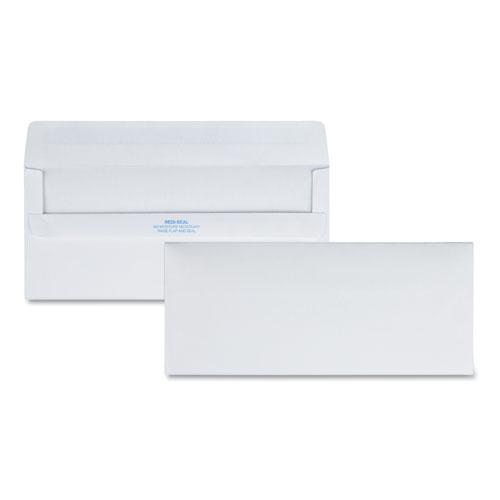 Redi-Seal Envelope, #10, Commercial Flap, Redi-Seal Closure, 4.13 x 9.5, White, 500/Box. Picture 1