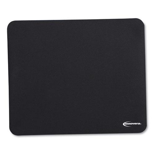 Latex-Free Mouse Pad, Black. Picture 1