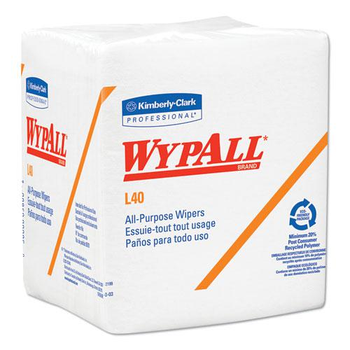 L40 Towels, 1/4 Fold, White, 12 1/2 x 12, 56/Box, 18 Packs/Carton. Picture 1