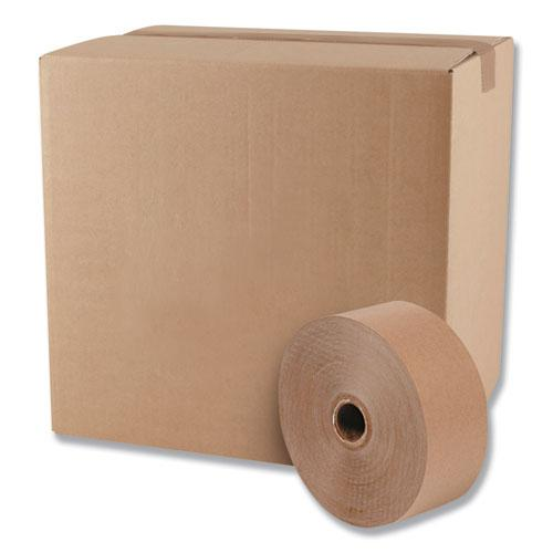 "Gummed Kraft Sealing Tape, 3"" Core, 3"" x 600 ft, Brown, 10/Carton. Picture 2"