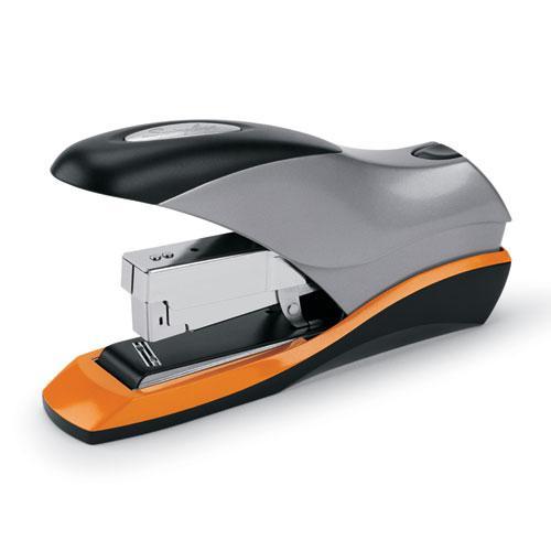 Optima 70 Desktop Stapler, 70-Sheet Capacity, Silver/Black/Orange. Picture 1