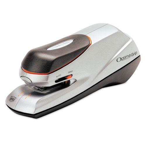 Optima Grip Electric Stapler, 20-Sheet Capacity, Black/Silver. Picture 1