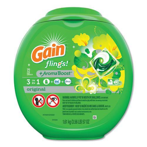 Flings Laundry Detergent Pods, Original Scent, 72/Container. Picture 1