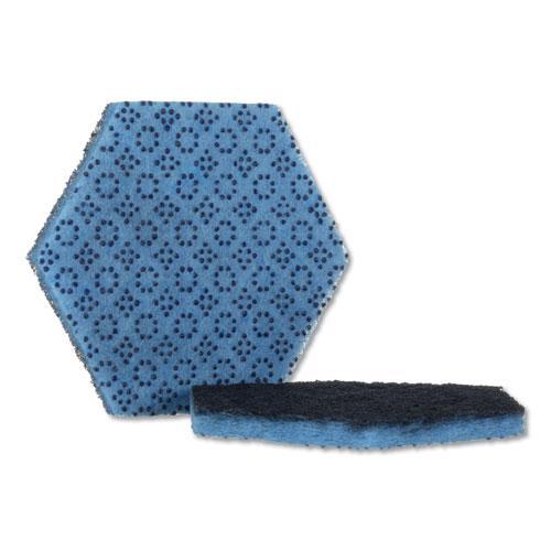 """Low Scratch Scour Pad 2000HEX, 5.75"""" x 5"""", Blue, 15/Carton. Picture 1"""