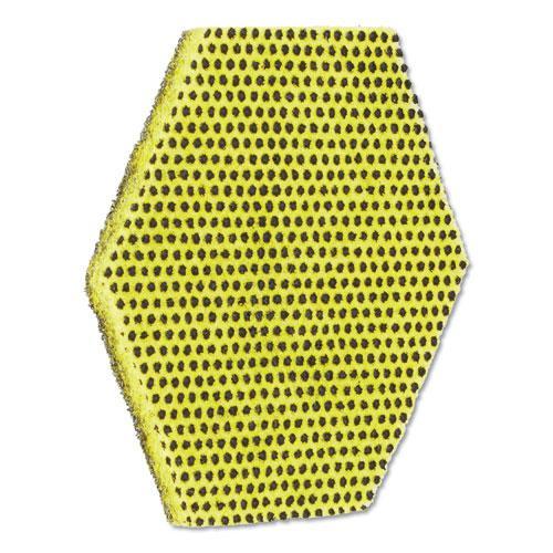 "Dual Purpose Scour Pad, 5"" x 5"", Gray/Yellow, 15/Carton. Picture 2"