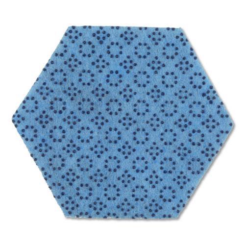"""Low Scratch Scour Pad 2000HEX, 5.75"""" x 5"""", Blue, 15/Carton. Picture 2"""