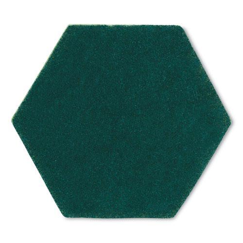 "Dual Purpose Scour Pad, 5"" x 5"", Gray/Yellow, 15/Carton. Picture 3"