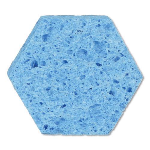 """Low Scratch Scour Sponge 3000HEX, 4.45"""" x 3.85"""", Blue, 16/Carton. Picture 4"""