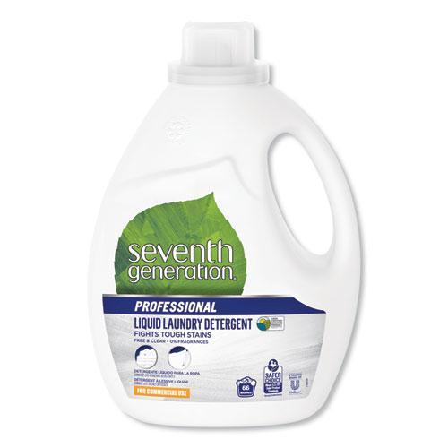 Liquid Laundry Detergent, Free and Clear, 66 loads, 100oz Bottle, 4/Carton. Picture 1