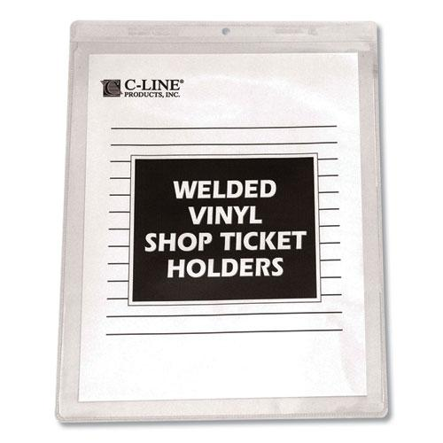 Clear Vinyl Shop Ticket Holders, Both Sides Clear, 50 Sheets, 9 x 12, 50/Box. Picture 2