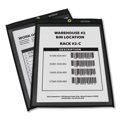 Shop Ticket Holders, Stitched, One Side Clear, 75 Sheets, 9 x 12, 25/Box. Picture 3