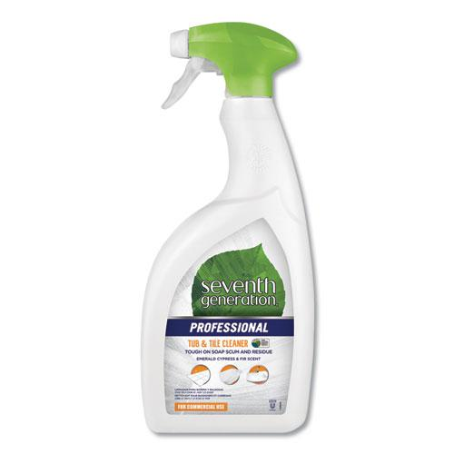 Tub and Tile Cleaner, Emerald Cypress and Fir, 32 oz Spray Bottle, 8/Carton. Picture 1