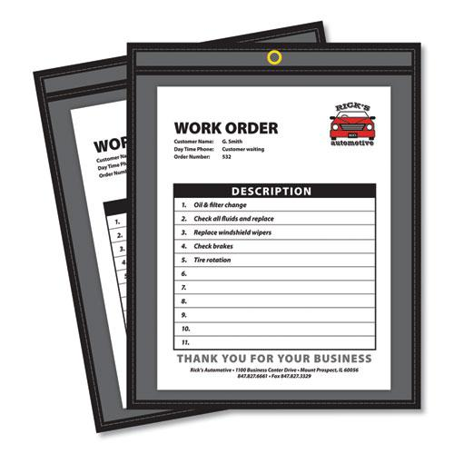 Shop Ticket Holders, Stitched, One Side Clear, 75 Sheets, 9 x 12, 25/Box. Picture 1