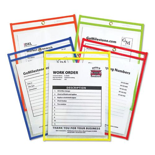 "Stitched Shop Ticket Holders, Neon, Assorted 5 Colors, 75"", 9 x 12, 25/BX. Picture 1"