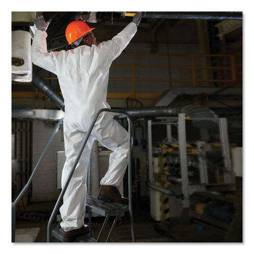 BP A20 Coveralls, MICROFORCE Barrier SMS Fabric, White, Large, 24/Carton. Picture 5