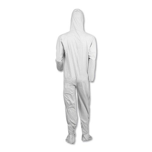 A40 Elastic-Cuff, Ankle, Hood and Boot Coveralls, White, 2X-Large, 25/Carton. Picture 4