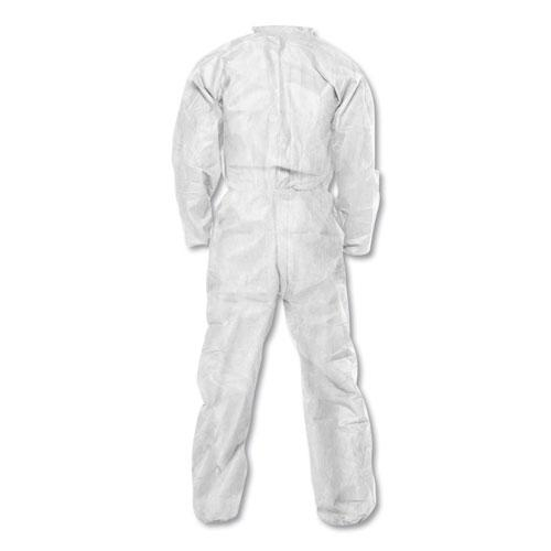 BP A20 Coveralls, MICROFORCE Barrier SMS Fabric, White, Large, 24/Carton. Picture 2