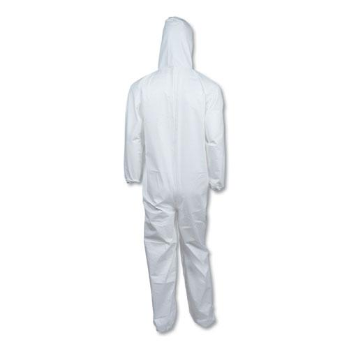 A40 Elastic-Cuff & Ankle Hooded Coveralls, White, Large, 25/Carton. Picture 6
