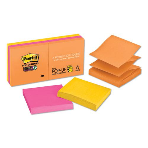 Pop-up 3 x 3 Note Refill, Rio de Janeiro, 90 Notes/Pad, 6 Pads/Pack. Picture 1