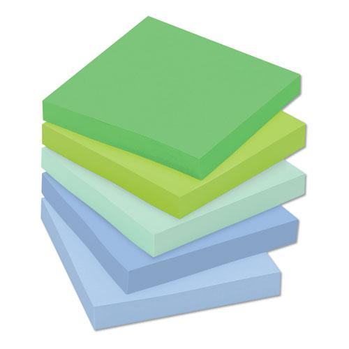 Recycled Notes in Bora Bora Colors, 3 x 3, 70-Sheet, 24/Pack. Picture 3