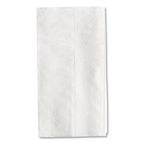 Tall Fold Dispenser Napkins, 1-Ply, 7 x 13 1/2, White, 10000/Carton. Picture 7