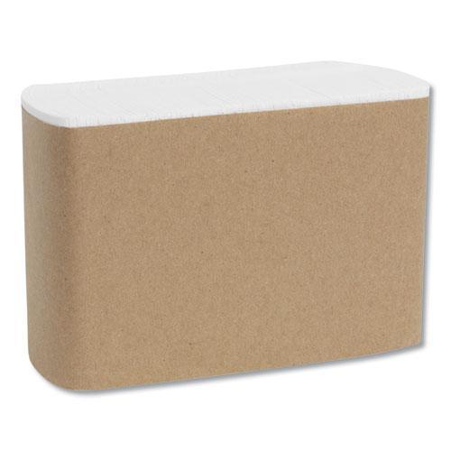 Tall Fold Dispenser Napkins, 1-Ply, 7 x 13 1/2, White, 10000/Carton. Picture 6