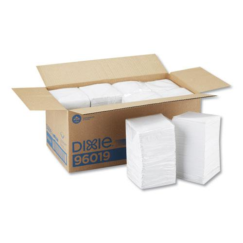 Beverage Napkins, Single-Ply, 9 1/2 x 9 1/2, White, 4000/Carton. Picture 1