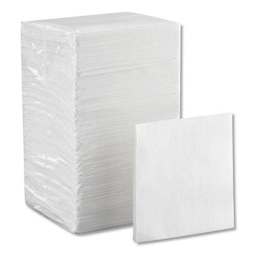 Beverage Napkins, Single-Ply, 9 1/2 x 9 1/2, White, 4000/Carton. Picture 7