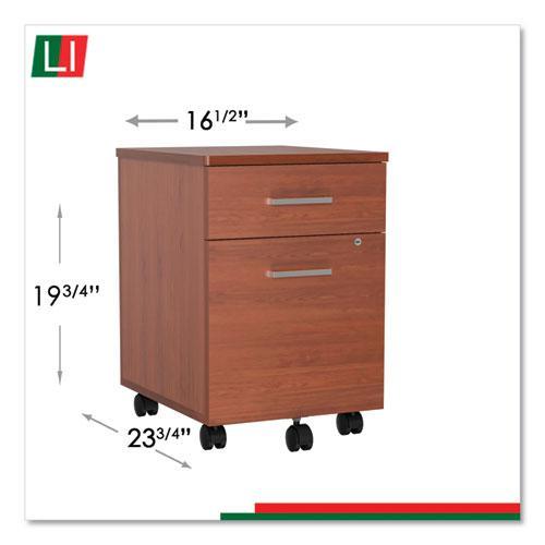 Trento Line Mobile Pedestal File, 16.5w x 19.75d x 23.63h, Cherry. Picture 6