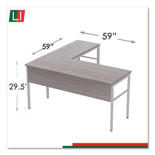 "Urban Series L- Shaped Desk, 59"" x 59"" x 29.5"", Ash. Picture 6"