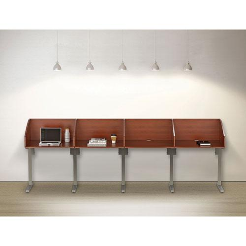 Study Carrell Starter Unit, 2-Leg, 31.25 x 23.5 x 45.25, Cherry. Picture 3