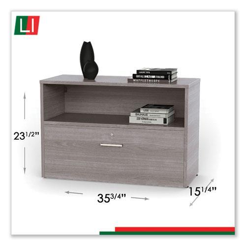 "Urban 36"" Credenza, Bottom Pedestal, 35.25w x 15.25d x 23.75h, Ash. Picture 3"
