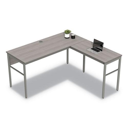 "Urban Series L- Shaped Desk, 59"" x 59"" x 29.5"", Ash. Picture 11"