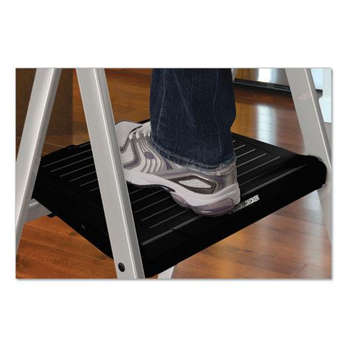 Aluminum Step Stool Ladder, 2-Step, 225 lb Capacity, 18.5w x 23.5 spread x 38.5h, Silver. Picture 6