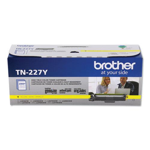 TN227Y High-Yield Toner, 2300 Page-Yield, Yellow. Picture 3