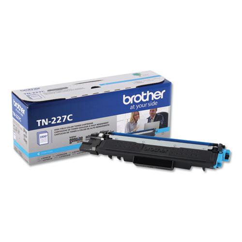 TN227C High-Yield Toner, 2300 Page-Yield, Cyan. Picture 1