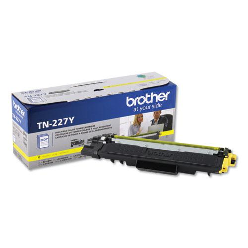 TN227Y High-Yield Toner, 2300 Page-Yield, Yellow. Picture 1