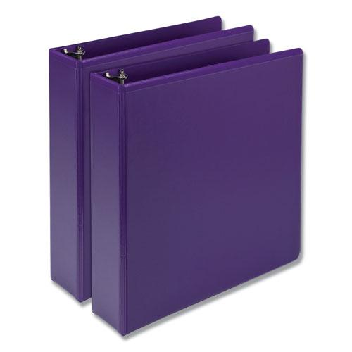 """Earth's Choice Biobased Durable Fashion View Binder, 3 Rings, 2"""" Capacity, 11 x 8.5, Purple, 2/Pack. Picture 1"""