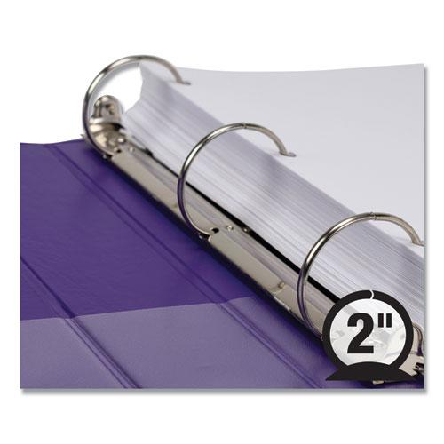 """Earth's Choice Biobased Durable Fashion View Binder, 3 Rings, 2"""" Capacity, 11 x 8.5, Purple, 2/Pack. Picture 6"""