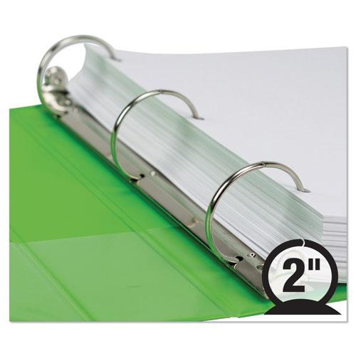 """Earth's Choice Biobased Durable Fashion View Binder, 3 Rings, 2"""" Capacity, 11 x 8.5, Lime, 2/Pack. Picture 6"""