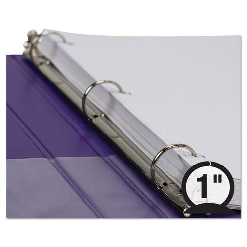 """Earth's Choice Biobased Durable Fashion View Binder, 3 Rings, 1"""" Capacity, 11 x 8.5, Purple, 2/Pack. Picture 7"""