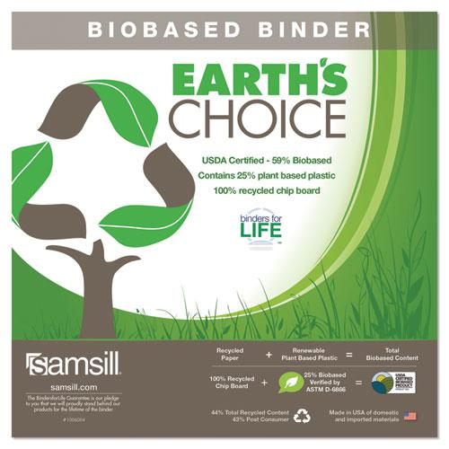 """Earth's Choice Biobased Durable Fashion View Binder, 3 Rings, 1"""" Capacity, 11 x 8.5, Lime, 2/Pack. Picture 2"""