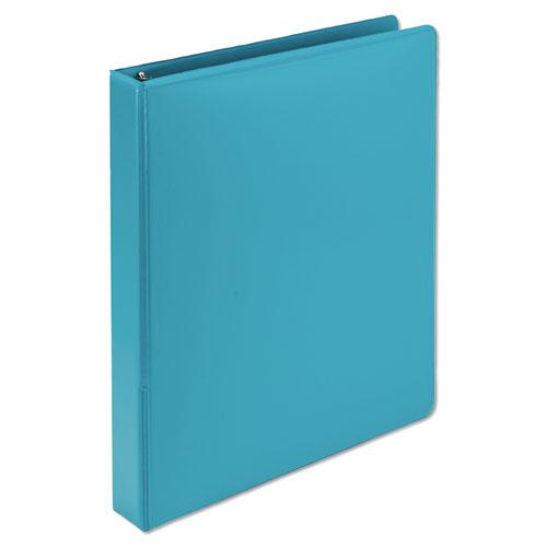 """Earth's Choice Biobased Durable Fashion View Binder, 3 Rings, 1"""" Capacity, 11 x 8.5, Turquoise, 2/Pack. Picture 6"""