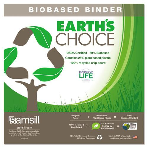 """Earth's Choice Biobased Durable Fashion View Binder, 3 Rings, 2"""" Capacity, 11 x 8.5, Lime, 2/Pack. Picture 2"""