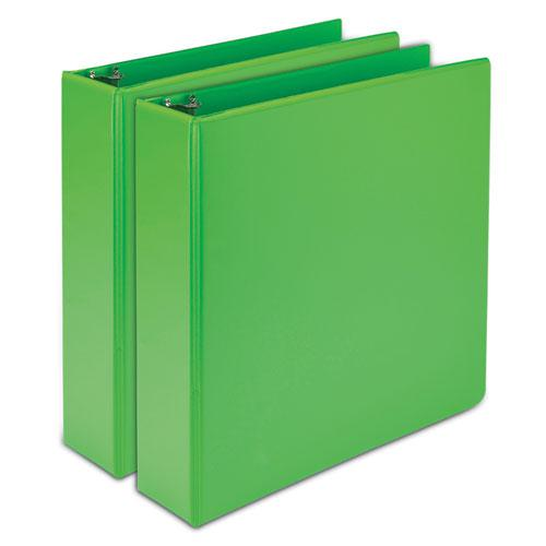 """Earth's Choice Biobased Durable Fashion View Binder, 3 Rings, 2"""" Capacity, 11 x 8.5, Lime, 2/Pack. Picture 1"""