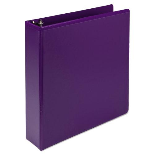 """Earth's Choice Biobased Durable Fashion View Binder, 3 Rings, 2"""" Capacity, 11 x 8.5, Purple, 2/Pack. Picture 5"""